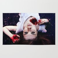 pain Area & Throw Rugs featuring Pain by Lídia Vives