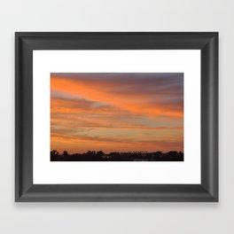Tangerine Sunset Framed Art Print