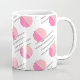 Modern Pink Circle Line Abstract Coffee Mug