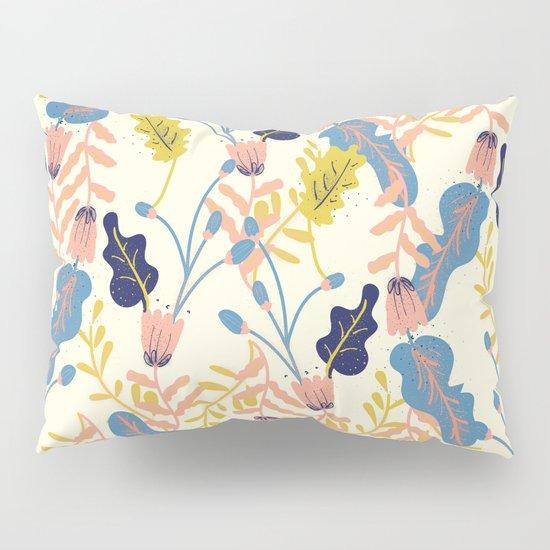 Pastel Floral Pattern Pillow Sham