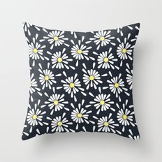 Common Daisy Throw Pillow
