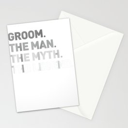 the male misconception legend tee cool funny present for groom present tee Stationery Cards