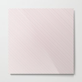 Bridal Rose Stripe Metal Print