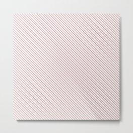 Bridal Rose Stripe Metal Print