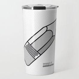 Weapon of Construction Travel Mug
