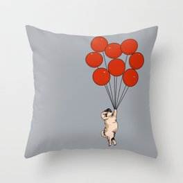I Believe I Can Fly Pug Throw Pillow