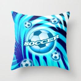 Soccer 6 Throw Pillow