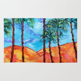 California Palm Trees Rug