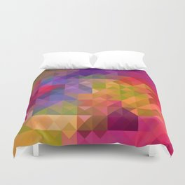 Bright Colorful Geometric Abstract Duvet Cover