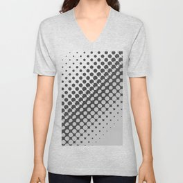 Dark grey and light grey halftone pattern Unisex V-Neck