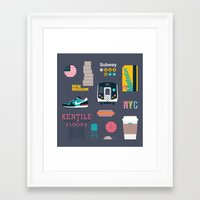 nyc Framed Art Prints featuring NYC by 914k