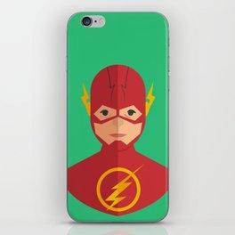 flat for flash iPhone Skin