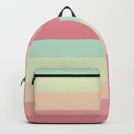 Summer pastel colours geometric horizontal lines pattern for home decoration Backpack