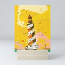 LIGHTHOUSE SHIP Mini Art Print