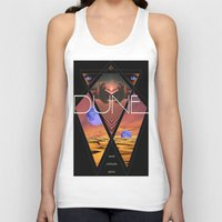 dune Tank Tops featuring Dune Poster by S E R P E N T F I R E
