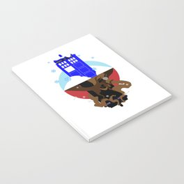 Upside Down Time Travel Notebook