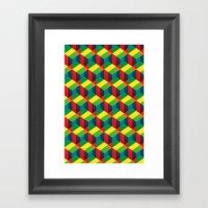 Construct (colour) Framed Art Print