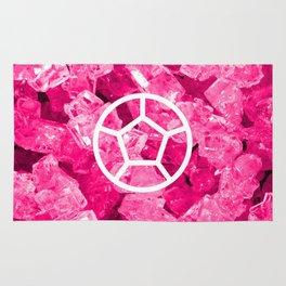 Rose Quartz Candy Gem Rug