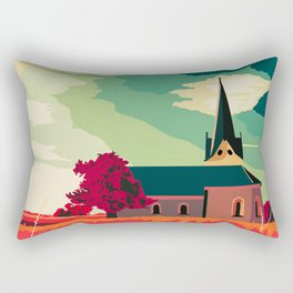 My church in the country illustration Rectangular Pillow