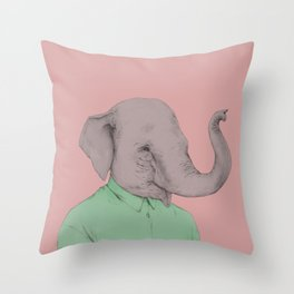 L'éléphant Throw Pillow