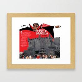 Castle Dracula Brochure Cover. Wildwood, New Jersey Framed Art Print