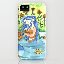 Sunflower Mermaid iPhone Case