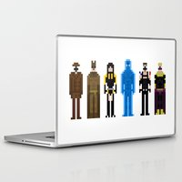 watchmen Laptop & iPad Skins featuring 8-bit Watchmen by MrHellstorm