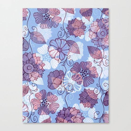 Flower Flow Canvas Print
