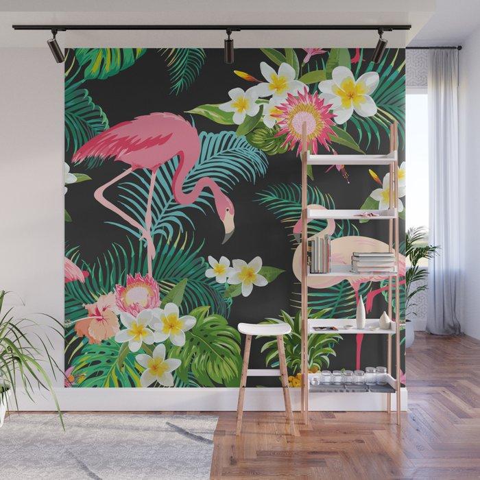 Flamingo Dance Wall Mural by robincurtiss Society6