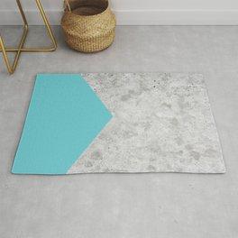 Geometric Concrete Arrow Design - Light Blue #206 Rug