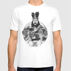 Big trouble White LARGE Mens Fitted Tee