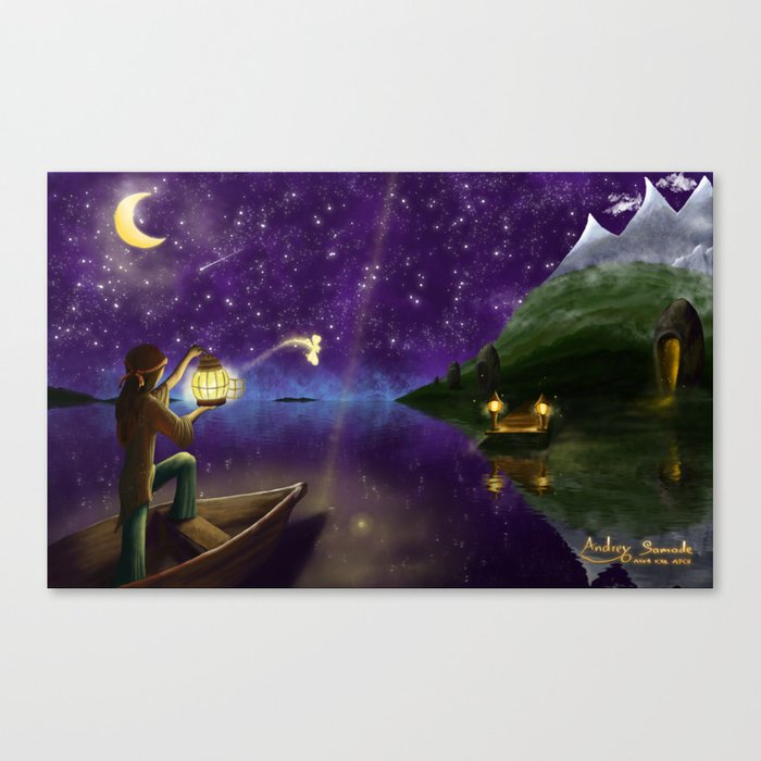Releasing the Fairy Canvas Print