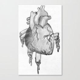 Heart Sketch Canvas Print