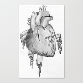 Heart Sketch Canvas Print