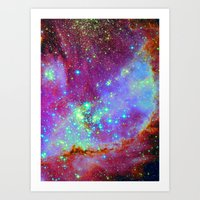 nursery Art Prints featuring Stellar Nursery by Starstuff