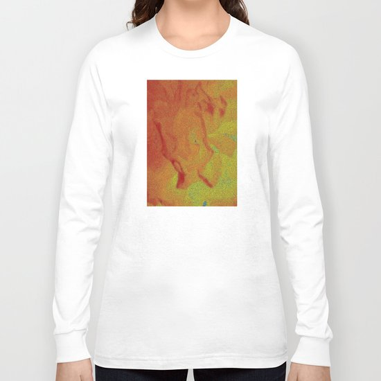 Flower | Flowers | Fading Flower | Red Abstract Long Sleeve T-shirt