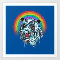 Zombie Panda Art Print