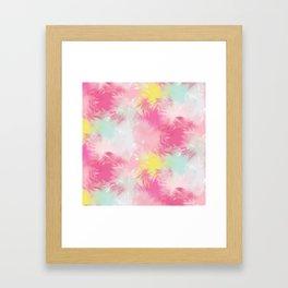 Blurred Blend - Pink Framed Art Print
