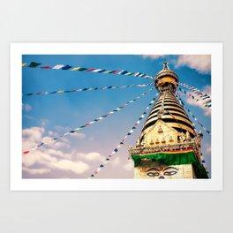 Stupa in Kathmandu valley, Nepal Art Print