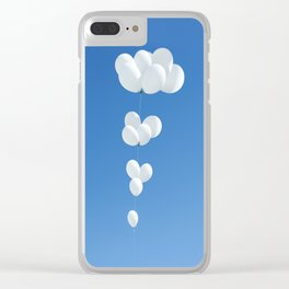 Saudade (White balloons) Clear iPhone Case