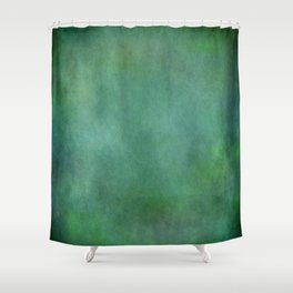 Looking into the depths of green Shower Curtain