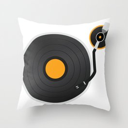 Vinyl Vintage Record Rave T-Shirt for Men and Wome Throw Pillow