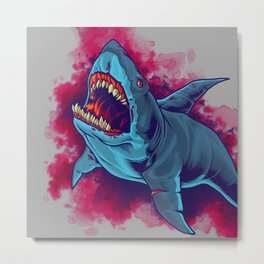 Shark - Natural Hunter Metal Print