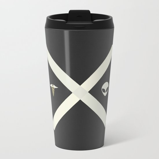 Mulder and Scully Metal Travel Mug