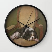 downton abbey Wall Clocks featuring Abbey by Ambre Wallitsch
