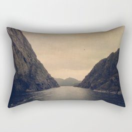 mountains - follow your heart Rectangular Pillow