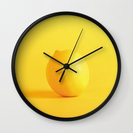 Lovely in Lemon Wall Clock