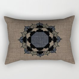 Lotus Mandala on Fabric Rectangular Pillow