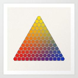 Lichtenberg-Mayer Colour Triangle recoloured remake, based on Mayer's original idea and illustration Art Print