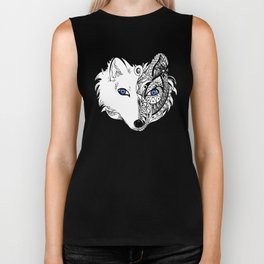 Abstract Fox Biker Tank